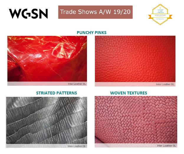 Our leathers selected for WGSN as reference for AW 19/20