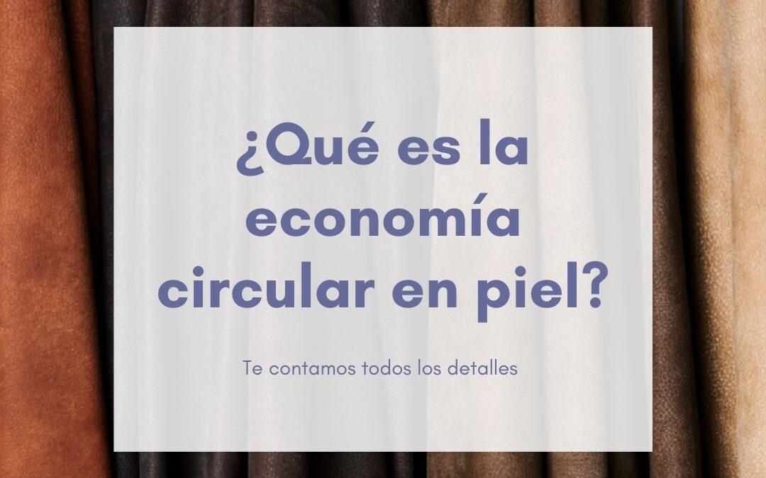 ¿Qué es economía circular en piel?